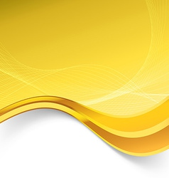 Golden border luxury swoosh wave template vector