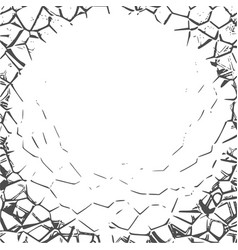 grunge cracks effect texture vector image