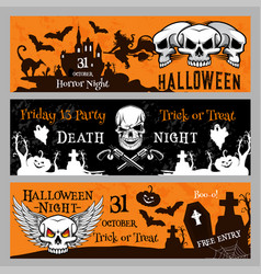 halloween party banners for friday night vector image