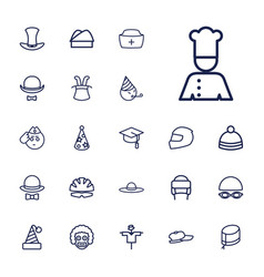 Hat icons vector