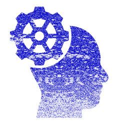 Head gear grunge textured icon vector