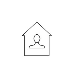 Home owner icon vector