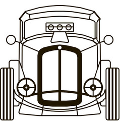 hot rod front view for cutting logo art object vector image