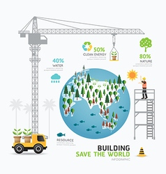 Infographic nature care template design building vector image vector image