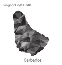 isolated icon barbados map polygonal geometric vector image