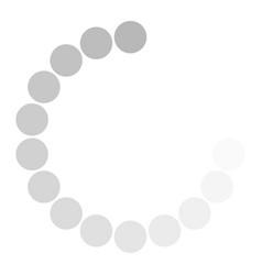isolated loading icon on white background vector image