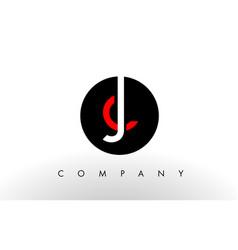 jc logo letter design vector image