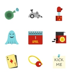 Jocularity icons set flat style vector