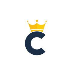 King letter c logo icon design vector