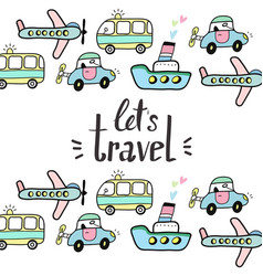 lets travel vector image