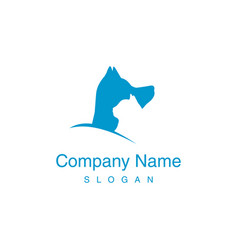 logotype veterinary vector image