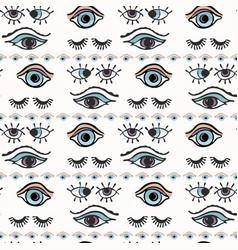 Magic all seeing eye hand drawn seamless vector