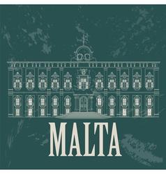 Malta landmarks retro styled image vector