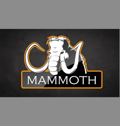 mammoth vector image