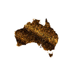 map of australia in gold sequins vector image