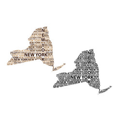 map of new york state vector image