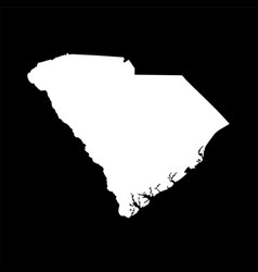 map of the us state of south carolina vector image