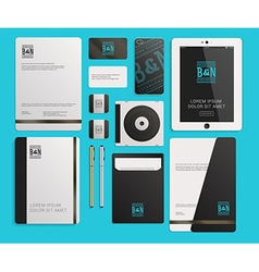 Modern corporate identity template design with vector