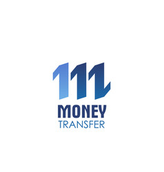 money transfer icon for currency exchange service vector image