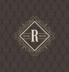 Monogram logo template vector image