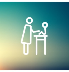 Mother taking care of her baby sitting on high vector image