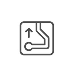 navigation line icon vector image