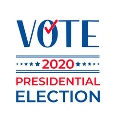 Presidential election 2020 united states of vector