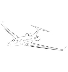 Prestigious and expensive modern business airplane vector