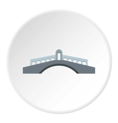 Round bridge icon flat style vector