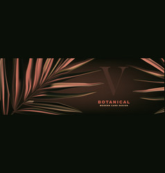 royal palm realistic leaves beige texture vector image