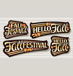 Set for fall season vector