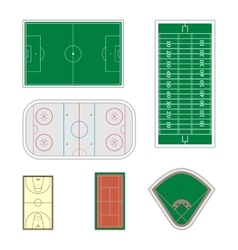 Set of sport fields vector image