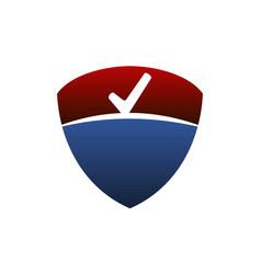 Shield checklist emblem vector