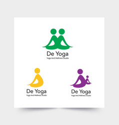 simple and elegant logo for yoga training vector image