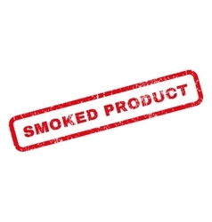 Smoked Product Rubber Stamp vector image