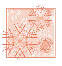 snowflakes abstract red backdrop vector image