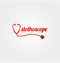 stethoscope icon template creative logo design vector image