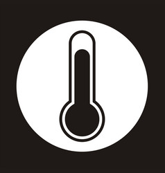 Temperature or temp icon on a round vector