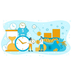 time is money viability and efficiency concept vector image
