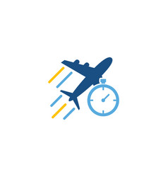 timer logistic logo icon design vector image