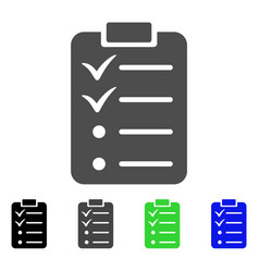 todo list flat icon vector image
