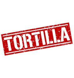 Tortilla square grunge stamp vector