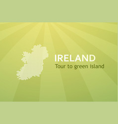 tour to ireland - business card for travel company vector image