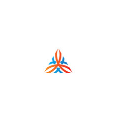 triangle abstract ornament logo vector image