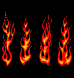 Tribal tattoo flames set for fantasy design vector image