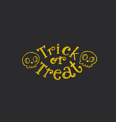 Trick or treat sketch text vector