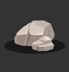 two gray rock stone vector image