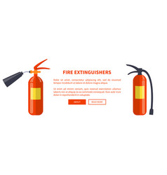 two red fire extinguishers of different types vector image