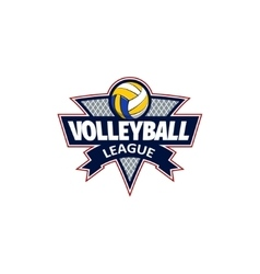 Volleyball logo for team and cup vector