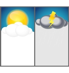 Weather Background with Sun Cloud Rain vector